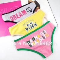 белье бесплатно shiiping 10pcs/lot Виктория тянущийся хлопок белье дамы белье торговли розовый yx002