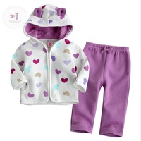Комплект одежды для девочек 3 sets/lot, 4 Models Baby Animal Stylish Coral Fleece Winter Thickened 2pcs Set
