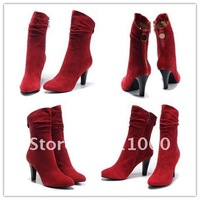 MOQ1(Free shipping)- Guaranteed 100% Genuine Leather  fashion boot,Brand Designer Shoes No.TB1152