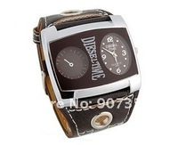 Наручные часы Fashion WaMaGe 9580 Leather Strap Men Boys' Watch big quadrate dial wrist watch
