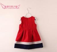 Платье для девочек 5pcs/lot 2013 New Autumn Female Child Flower Woolen Dresses Princess Tank Dress for Girls