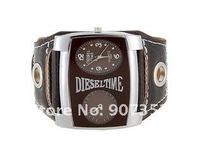 Fashion WaMaGe 9580 Leather Strap Men Boys' Watch big quadrate dial wrist watch free shipping