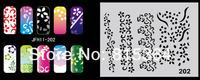 Beautiful Design Airbrush Nail Art Paint Stencil Kit Design Set MJ-009