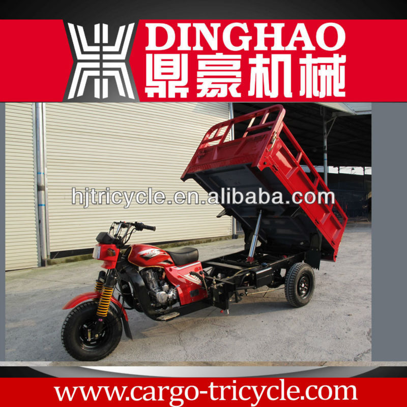 Dinghao Electric cargo tricycle/fuel type 3 wheeler motorcycle for adults