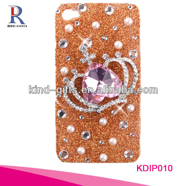 bling rhinestone case for iphone 5 with silver crown design.jpg