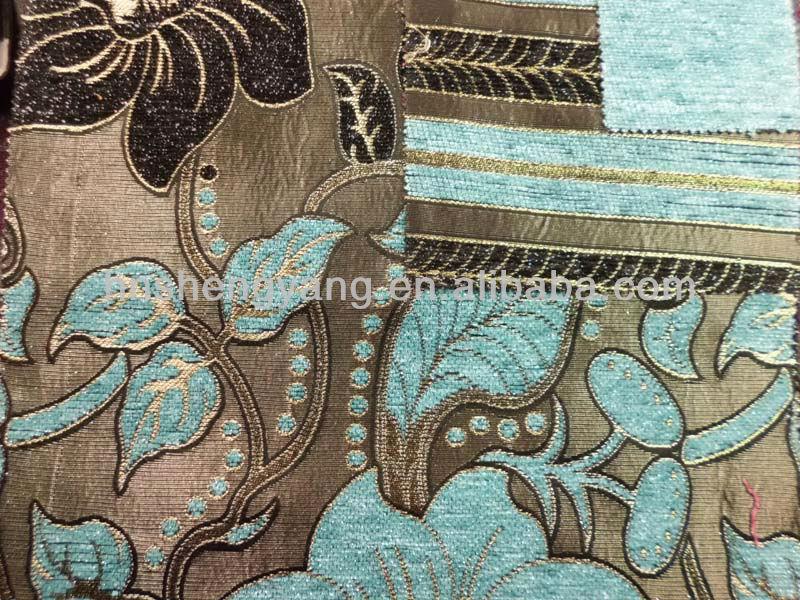 100% polyester metallic yarn chenille fabric