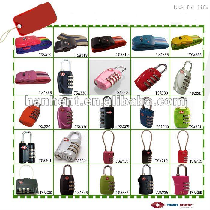 Promoción de la navidad cerraduras de equipaje