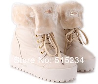 Женские ботинки 2013 The Winter Thick Fur Snow Boots for Women High Platform Shoes Ladies Half Knee Boots