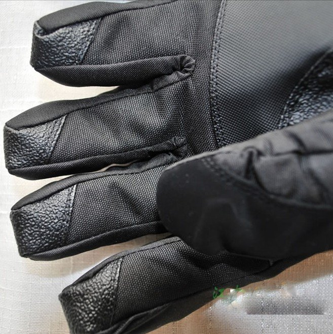 Winter Ski sport gloves black color Double Water-proof Long wristband thicker -30 warm riding gloves snowboard Motorcycle gloves