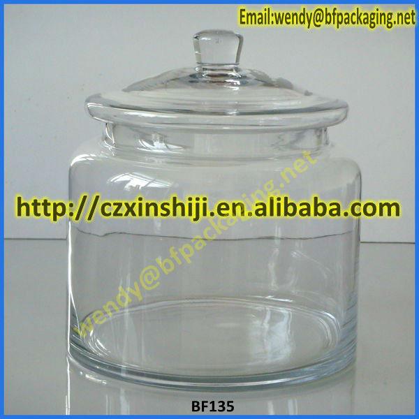 haute qualit 233 d 233 coratif en verre transparent bocal de bonbons th 233 pot avec couvercle