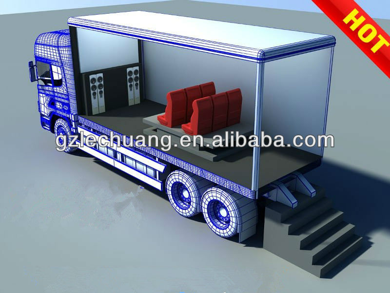 Hot sale most attractive truck mobile 5d cinema
