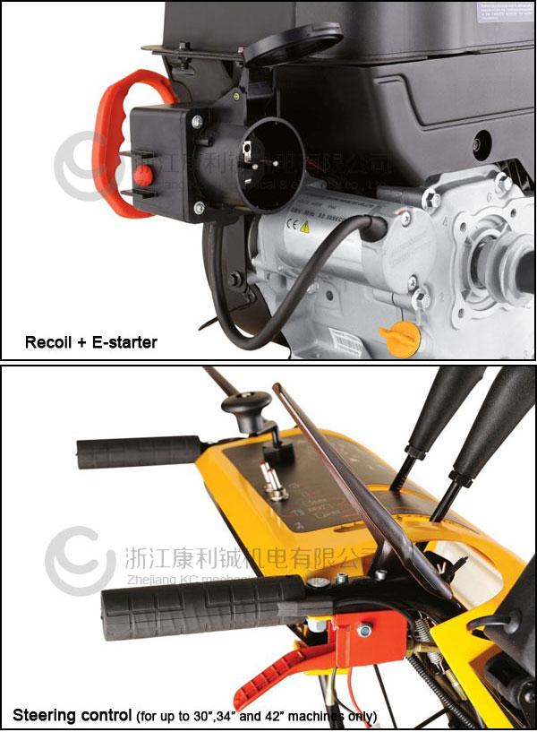 4 roues, 15hp souffleuse à neige / neige ventilateur / chasse - neige / neige machine de suppression