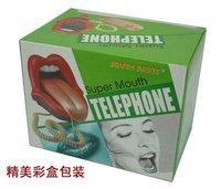 Голосовой телефон 2012 New Fashion New Novelty red mouth shape telephone creative telephone set