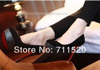 2012 spring and summer sexy velvet shallow mouth serpentine pattern platform thin heels high-heeled shoes
