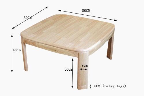 Asian Japanese Kotatsu Table Natural Finish Wooden Low Foot Warmer Heated Table Ebay