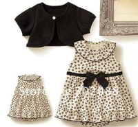 Платье для девочек Two-pieces set:coat+dress Girls dress/Baby Girls suit size:80 90 100