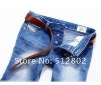 Мужские джинсы HOT! retail & brand jeans 9614 blue, Leisure&Casual pants, Newly Style Straight Cotton Men Jean trousers