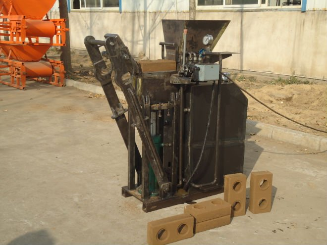 SY1-25 Manual clay Or Soil+Cement interlocking Brick Machine