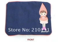 Сумка для канцелярии fashion little red girl design color cloth roll-pencil case/pencil bag/make up bag-pink/light blue