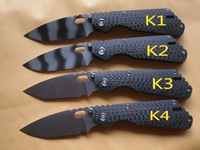 High Quality Kevin triumph Strider PT Carbon Fiber small folding knife (geometric head waterdrop head and tiger grain edition)