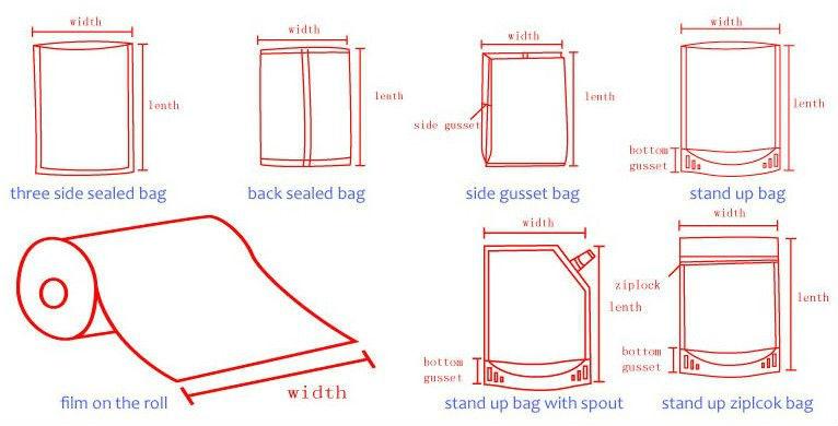 Custom printed zipper plastic rice bag
