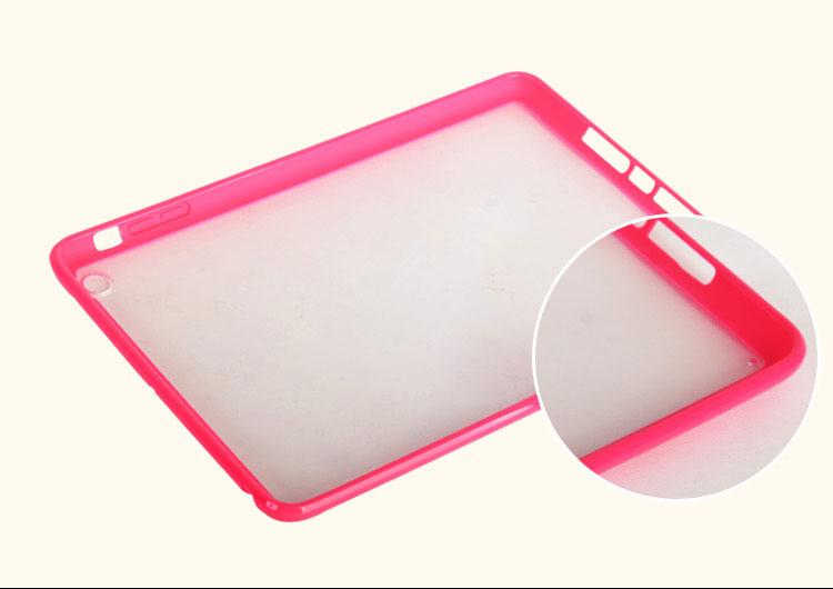 TPU+PC clear case cover for ipad mini retina/ipad mini2