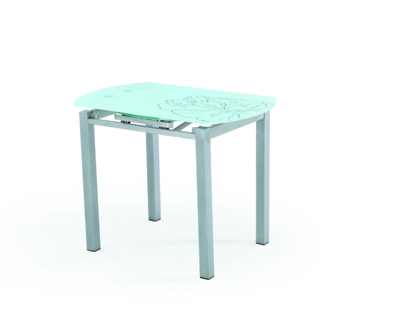 2013 Contemporary Modern Hot Sale Round Extendable Glass Dining Table And Cha