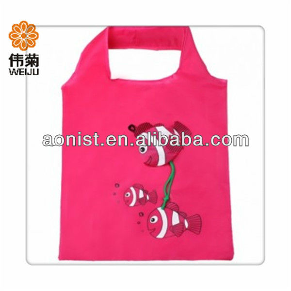 Rose flowers folding shopping bag