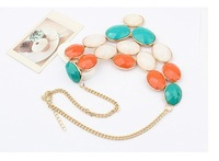 Колье-ошейник Min order $15 mixed order] factory price top quality gemstone necklace short choker necklace fashion gold jewerly