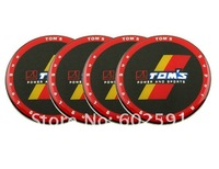 C056 TOM'S RACING Wheel Hub Caps Badge Emblem Stickers 65mm 4x