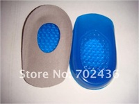 Gel Heel Cushion massaging Heel Pads Cups Shock absorbrion Shoes Inserts free shipping