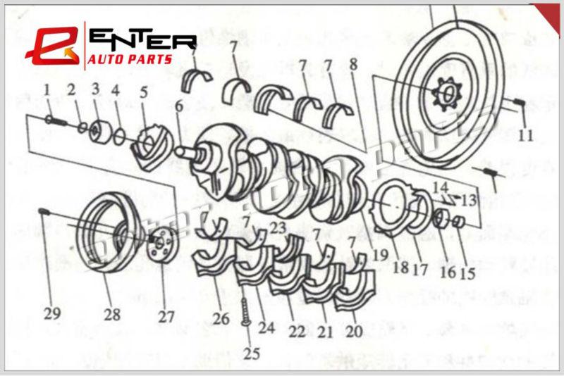 4BT Cummins Parts Crankshaft 3929036 3908031