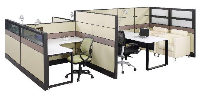 Ronda de cub culo de oficina muebles para 4 personas for Cubiculos de oficina