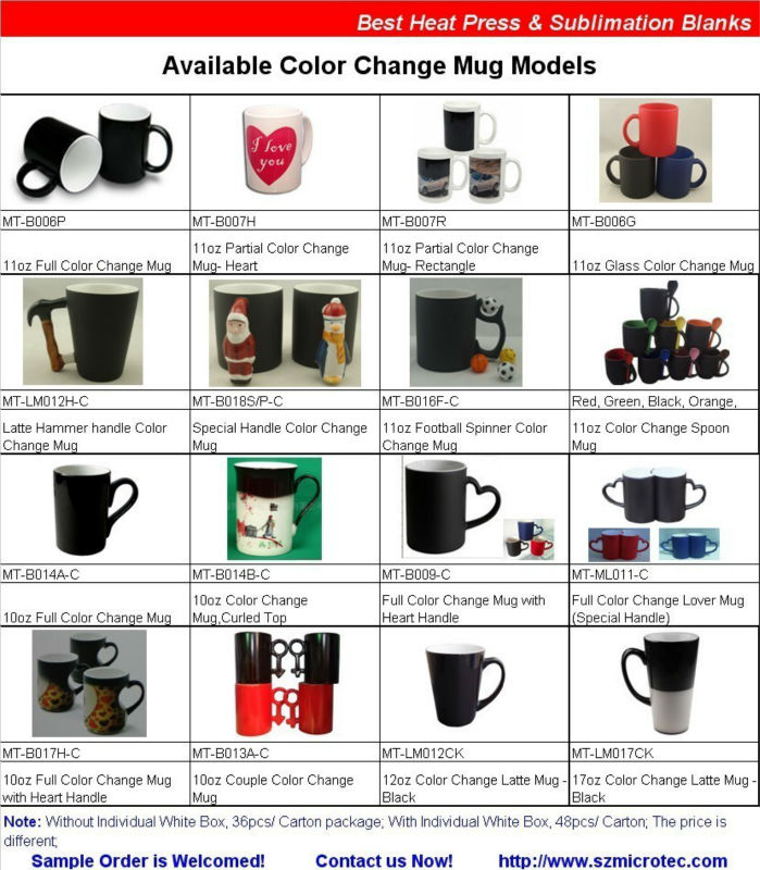 hot color change mug,color changing mug and cup