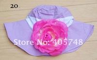 Новый стиль шапочки летние цветочные головные уборы для детей 3размера 3шт/лот