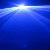 Освещения для сцены AC100V-250V, 50/60Hz 1000mW Blue Animation Laser Stage Light Laser Disco DJ Party Light