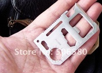 20PCS / Lot Multi-functional Portable Saber Pocket Knife Card Outdoor Tools Knives Wholesale