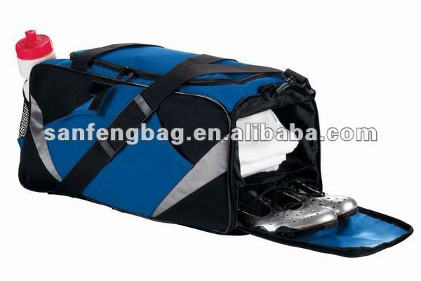 sport duffel bag with shoe compartment