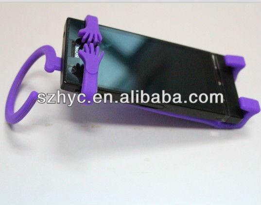 Custom Made Stuffed human Shaped Mobile Phone Holder Plush Funny Cell Phone Holder For Desk