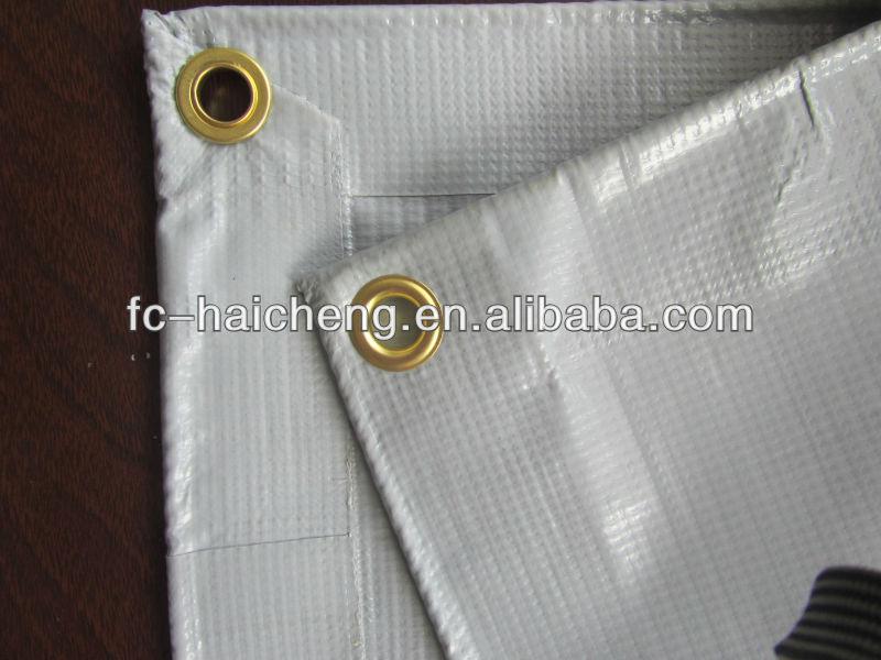 pvc fire retardant tarpaulin in grey colour