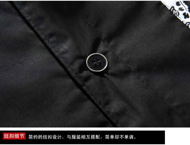 Big Размер Special  Стиль Mens Хлопок slim Длинный-Рукавd shirt men's Повседневный flower patch рубашка Plus Размер Asia S-7XL MTS407