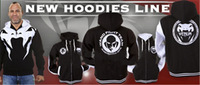 "UFC Venum Attack Black Hoodies& Venum ""Attack"" Hoody - Black # S017"