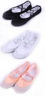 Женская обувь на плоской подошве girls unisex split soles canvas ballet flat dance shoes leather toe cap pink/red/black/white color yoga jklHR9
