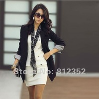 Женское платье 2013 spring winter fashionable casual elegant work dress for women black, white drop ship