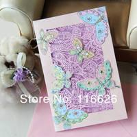 Товары для ручных поделок New Creative Carving Hollowed Greeting Cards w/ 3D Butterfly and Beads Gift Cards 6pcs/lot