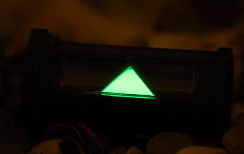 Tritium illuminated Soldiers Personal Illuminator SPI