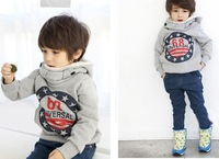 Толстовка для мальчиков Korea style baby coat, boy's hoody printed number 68