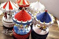 Карусель музыкальная шкатулка деревянная/merry-го-круглым / музыкальная шкатулка/Рождественский подарок