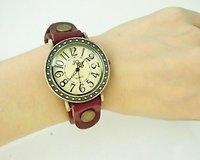 Наручные часы Holiday sale Genuine Cow leather strap punk analog watch Women fashion christmas gift Wrap quartz watch ladies KOW025