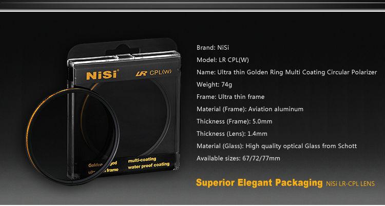 NISI LR CPL camera filter waterproof camera lens filter CPL filter